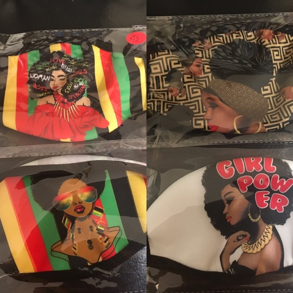 Accessories - Ladies Beautiful African Lady Mask